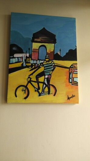 #My creation #acrylic colour # canvas painting