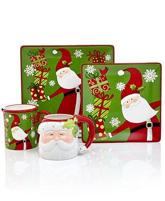 Certified International Dinnerware, Christmas Presents Santa Collection