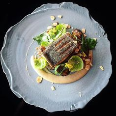 New Zealand king salmon, jerusalem artichoke, caramelized onions & sprouts. ✅ By - @phils_kitchen_nz ✅ #ChefsOfInstagram www.ChefsOF.com Join us!!!
