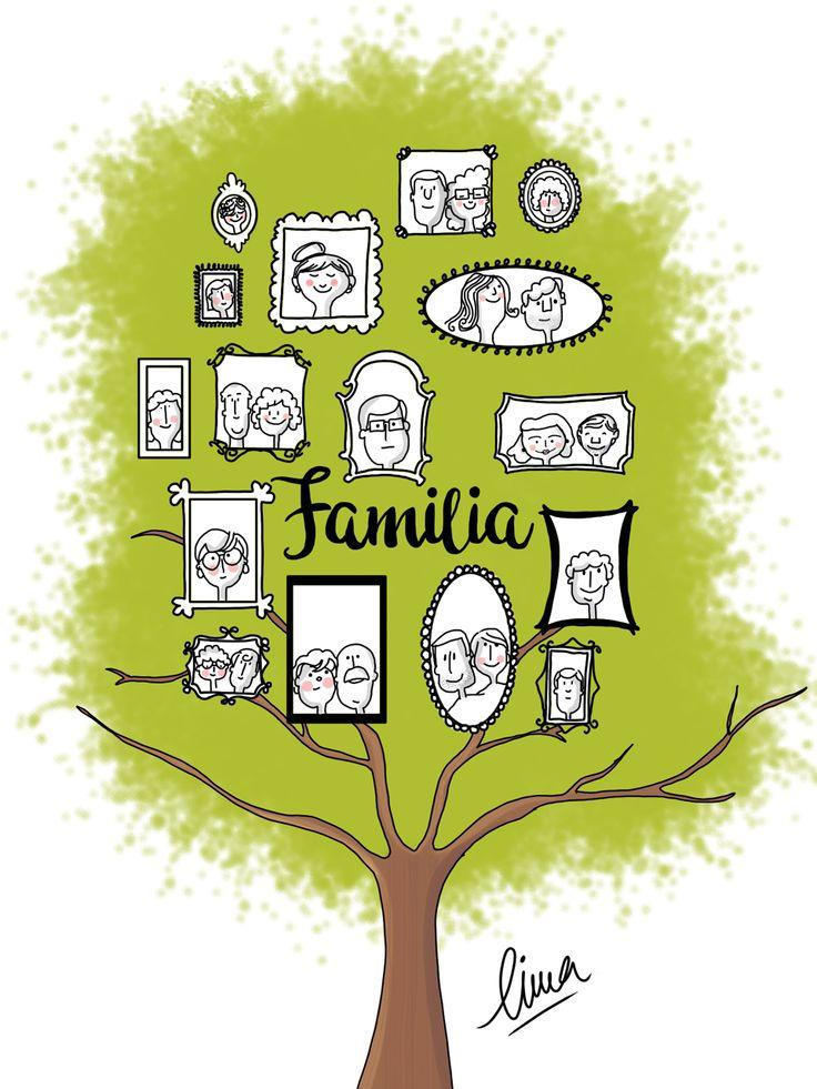 Ultimo reto ilustrado, de este año, para Tocamates:familia numerosa. http://www.tocamates.com/familia-numerosa/