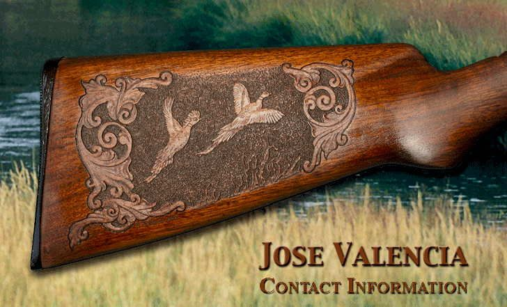 Jose valencia studio gun knife etc carving