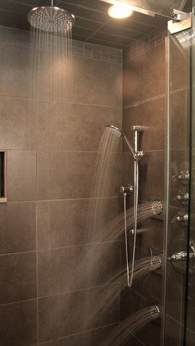a rain shower and jets you can control individually @Sam McHardy McHardy Taylor Homes