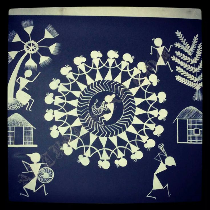Easy Warli Paintings Easy Drawings For Kids Page In Fb Arty