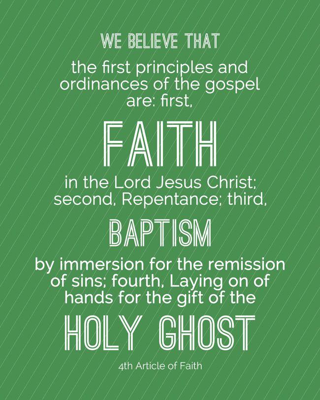 13 Articles of the Mormon Faith