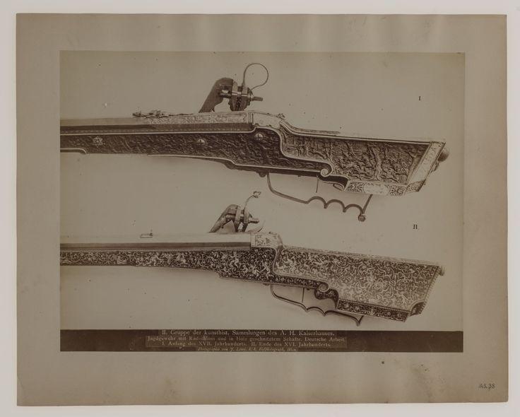 Broń myśliwska ze zbiorów Kunsthistorisches Museum w Wiedniu, fot. Josef Lowy, XIX w.
