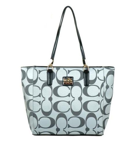 #CoachNewYorkStories #COACHFACTORY Coach Madison East West Small Grey Totes EAJ. Have these and they are awesome!