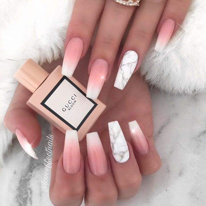 Coffin Nails Ideas For Enchanting Look Naildesignsjournal Com In 2020 Dipped Nails Long Acrylic Nails Ombre Acrylic Nails