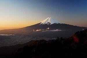 富士山 じゃまかんばん『日本と世界の伝統写真日記』