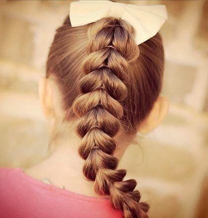 Оригинальная коса: Перевернутые сердечки