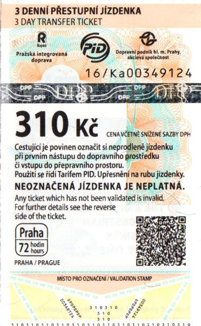 Prague Three Day Public Transport Pass
