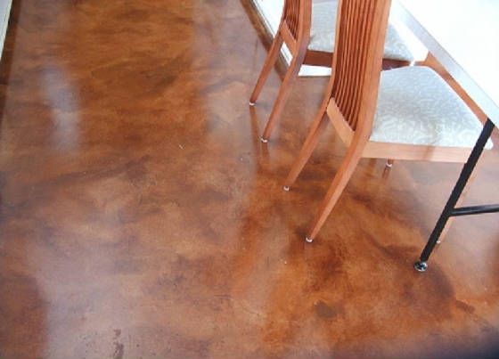 Coloring Your Home with Painted Concrete Floors: Floor Stained Concrete ~ dmetree.com Best Of Inspiration