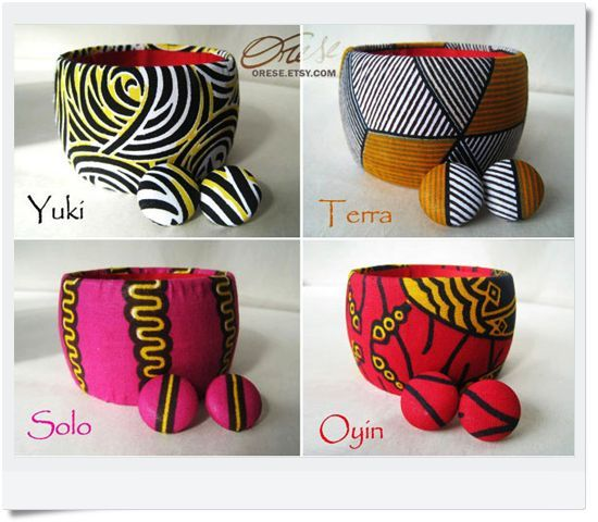 african fabric jewelry - Google Search