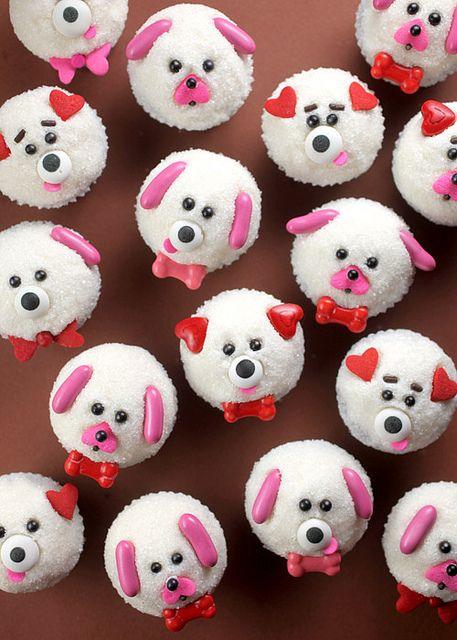 Puppy Love Mini Cupcakes by Bakerella, via Flickr // Ahhh these are SOOOO cute!