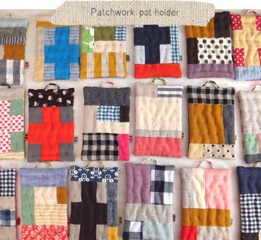 Patchwork pot holders. 2012年12月の記事 | fabrickaz+idees