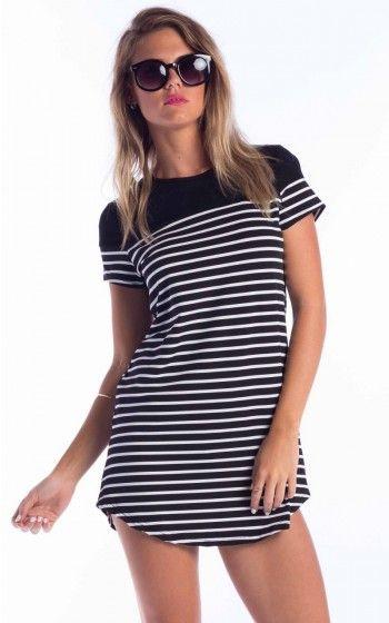 Happy Hour Dress in black stripe http://www.showpo.com/whats-new/happy-hour-dress-in-black-stripe
