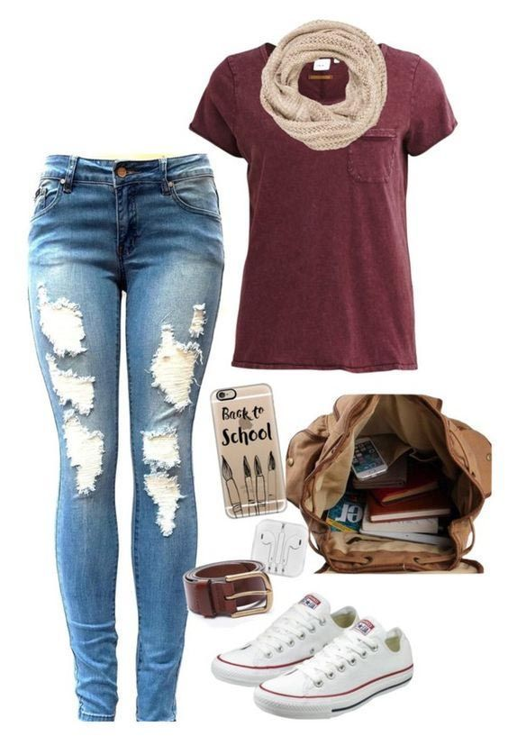 Basic Tee Cute Outfits for School