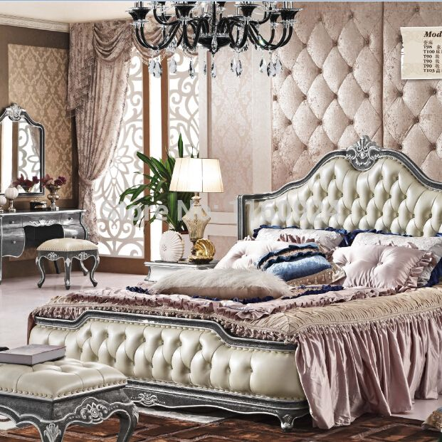 Cheap Wood Furniture Sets, Buy Directly From China Suppliers: High Grade  Elegant Oak Furniture Bedroom Luxury Bed , 1 Beside Table 1 Bed Bench And