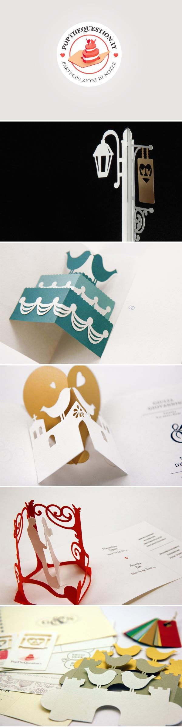 è pop-up. #wedding #weddinginvitations #popup  Partecipazioni di ...