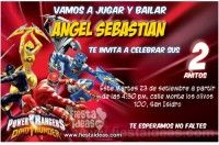 Invitaciones de cumpleaños de Power Rangers Gratis - Fiestaideasclub.com