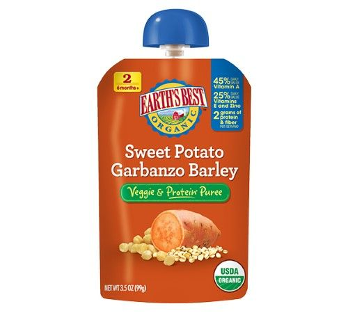 Earth's Best Organic Baby Food, 2nd Purees - Sweet Potato, Corn, Garbanzo And Barley, 3.5 Ounce (Pack of 6)