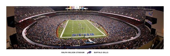 Commemorative Ralph Wilson Stadium Panorama Picture at Buffalo Bills Photo Store