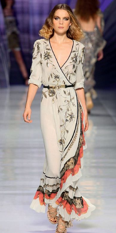 Etro dress ~ One of the prettiest dresses with ruffles I have ever seen. I would definitely wear this! Pure loveliness!