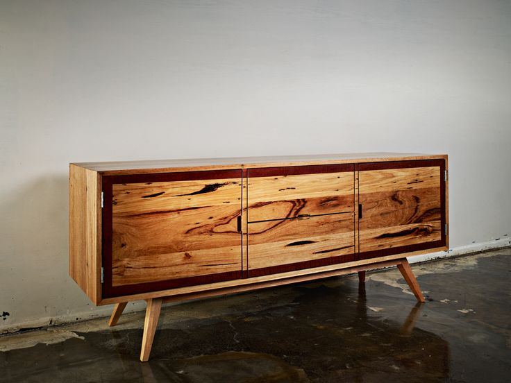 Auld Design - Australian furniture design and joinery. Recycled Messmate with Red Gum trim handmade entertainment unit made