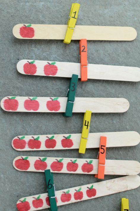 Easy number and counting activity with apples!