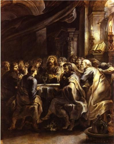 The Fifth Luminous Mystery: The Last Supper -~~Artist, Peter Paul Rubens. 1693~~