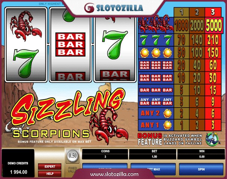 Sizzling Scorpions™ Slot Machine Game to Play Free in Microgamings Online Casinos