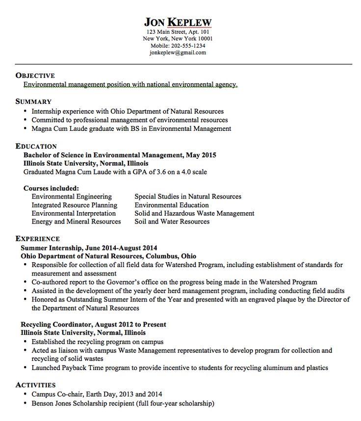 Pin by latifah on Example Resume CV  Sample resume