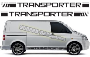 VW T5 racing stripe graphics, available in a range of colours