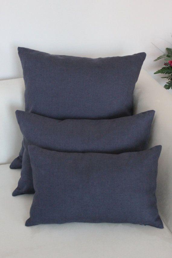 Set of 6, Decorative dark blue Pillow Cover Set, Living Room, Bedroom on Etsy, $68.00