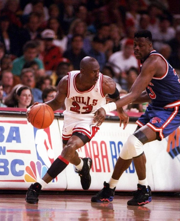 Mike Gets Past Ewing, '93 East Finals.