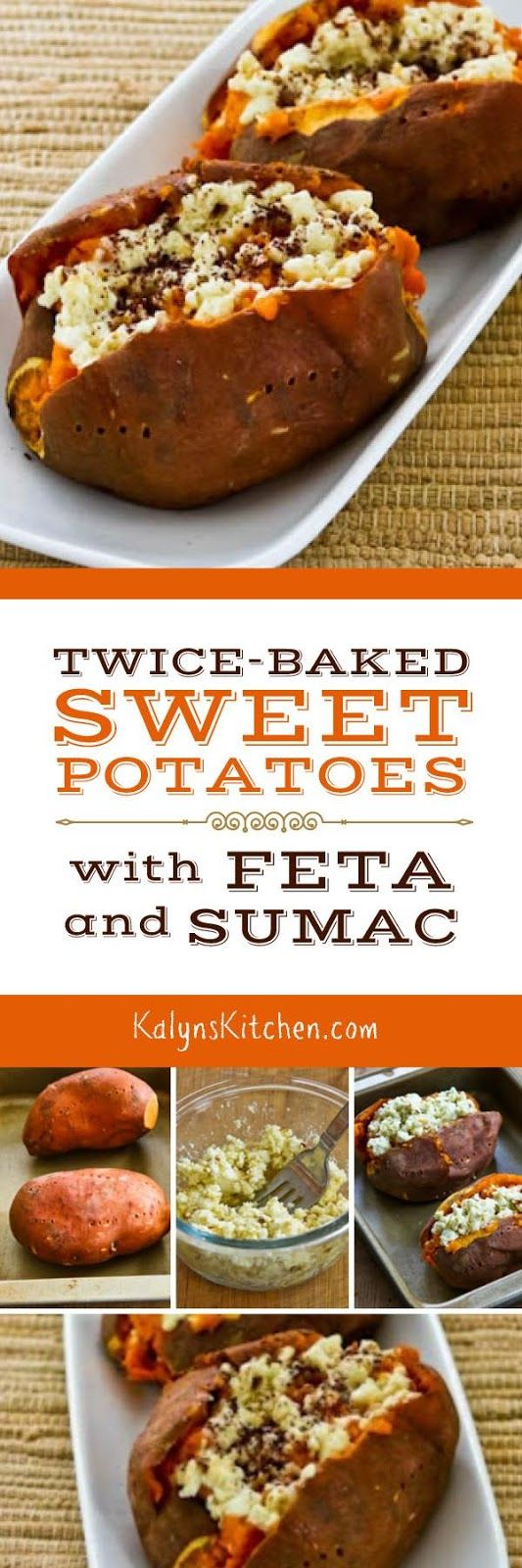 Twice-Baked Sweet Potatoes with Feta and Sumac are a tasty side dish ...