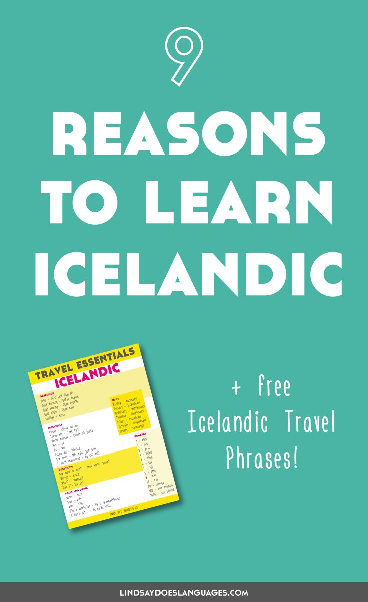 Icelandic is a language spoken by 330,000 people. So why learn Icelandic? Here's 9 reasons to learn Icelandic and my story of learning a bit of the lingo...