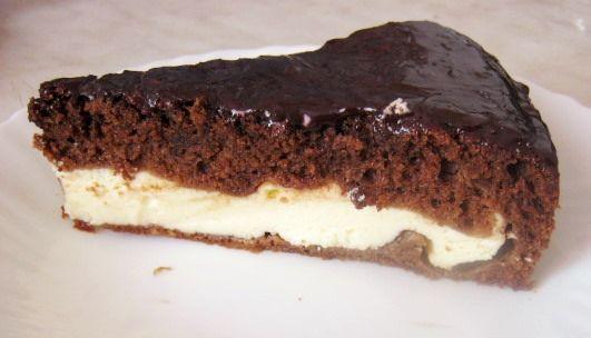 Шоколадно-творожный   торт брауни