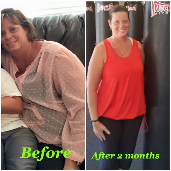 We have the great pleasure of introducing one of our newest members who has gotten phenomenal results. Jennifer Heenan has been with our Gilbert club for just about 2 months and does 4 classes a week. She loves the classes but loves even more that she has already lost a grand total of 32 pounds!!!! Jennifer's ultimate goal is to lose 80lbs and she's off to her best start ever. She's been trying to lose it for about 6 years now. She has 3 boys that always keep her on her toes.