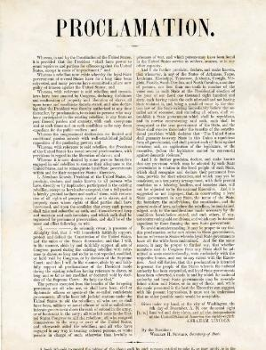 St. Augustine in the Civil War 1861-1865 page 5 -Lincoln Amnesty Proclamation