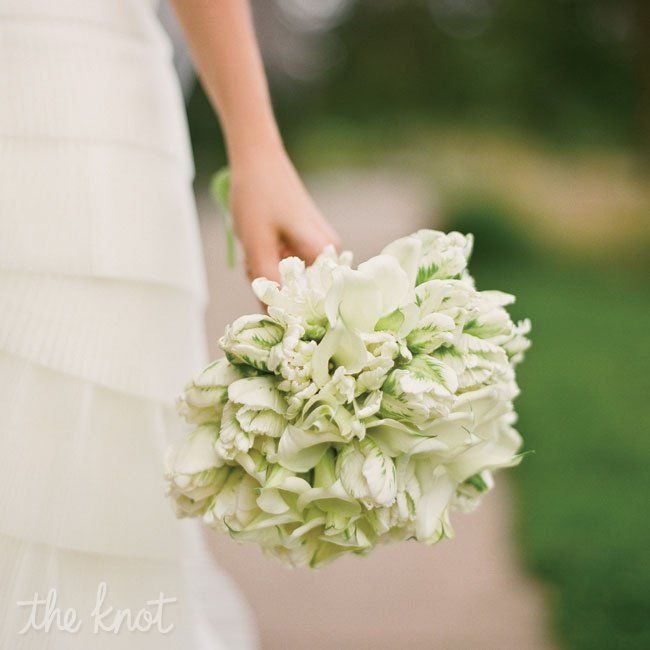 Modern Bridal Bouquet with Lilies and Orchids