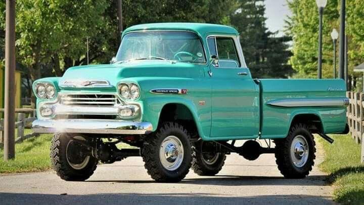 1959 Chevrolet Apache Napco 4x4 Chevy Lifted Chevy Trucks Chevy Pickup Trucks