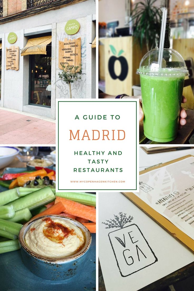 Guide to healthy and tasty restaurants in Madrid - both organic food, paleo, gluten-free, raw food, vegan food, low carb food etc.