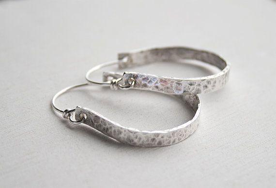 Sterling silver hoop earrings small hoop earrings by JudysDesigns