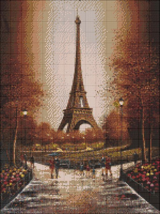 Paris cross stitch 1/2