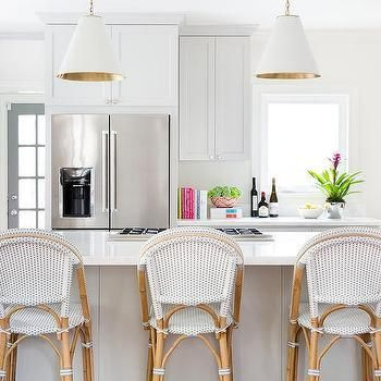 Kitchen Island With Cooktop Lined With Serena And Lily