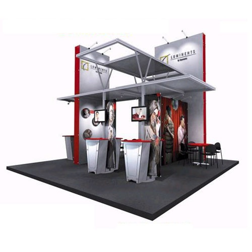 Exhibition Booth Cost : Luminents a modular trade show exhibit reconfigurable to
