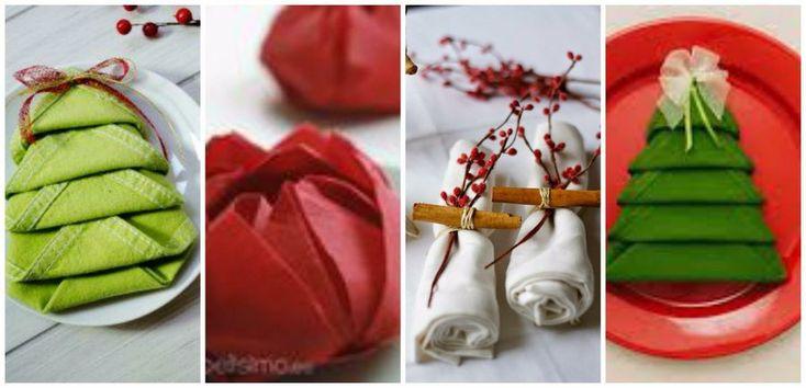 17 mejores ideas sobre doblar las servilletas en pinterest - Doblar servilletas para navidad ...