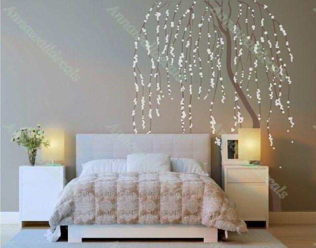Stickers autocollant mur de fleur de cerisier arbre for Autocollant mural arbre