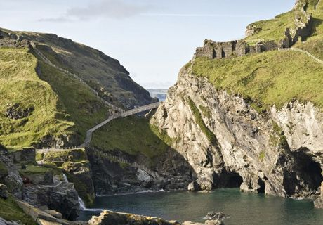 Tintagel Castle in Cornwall is steeped in legend and mystery; said to be the birthplace of King Arthur. The castle also features in the tale of Tristan and Isolde and has a history stretching as far back as the Romans. (http://www.english-heritage.org.uk)