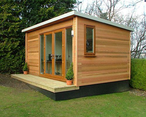 Garden office by garden lodges tiny retreats pinterest for Garden office buildings